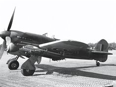 A British designed single engine ground attack aircraft equipped with cannon and rockets
