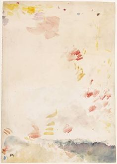 Joseph Mallord William Turner 1775‑1851 Essays in Colour to Try his Palette