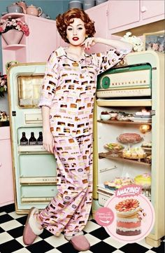 The Terrier and Lobster: Peter Alexander Mother's Day 2011 Catalog: Let Them Eat Cake! Quirky Fashion, Pink Fashion, Fashion Art, Fashion History, Pajamas All Day, Retro Housewife, Domestic Goddess, Everything Pink, Let Them Eat Cake