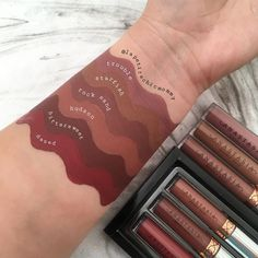 Swatches of liquid lipsticks and Sugar Glow Kit ( swipe f Anastasia Beverly Hills Lippenstift, Anastasia Beverly Hills Lipstick, Anastasia Liquid Lipstick, Peach Lipstick, Lipstick For Fair Skin, Lipstick Art, Natural Lipstick, Dark Lipstick, Lipstick Brands