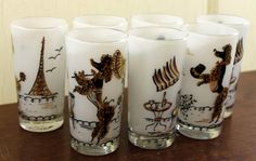 Set of Seven Maida Armour White Tumblers by LittleRedHenONLINE