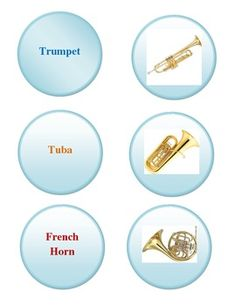 Brass Instrument File folder game - Centers