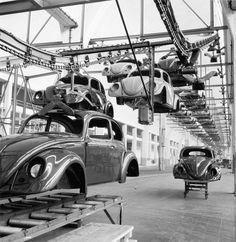 Volkswagen Factory, Wolfsburg: VW Pickup in the Delivery Area sold by Galerie Gerda Bassenge, Berlin, on Wednesday, December 2008 Volkswagen Factory, Volkswagen 181, T6 California, Vw Pickup, Kdf Wagen, Convertible, Vw Vintage, Vintage Photos, Vw Cars