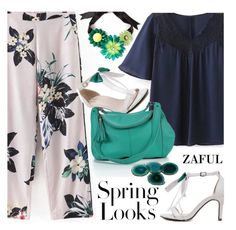 """""""Floral for spring"""" by ansev ❤ liked on Polyvore featuring Onna Ehrlich, H&M, Marina Fossati, RabLabs and zaful"""