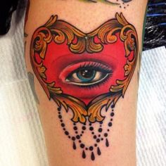 """""""My new favourite tattoo <3 It's a 'Lovers Eye'.   Done by the amazing Amie Lee Sanders in Brisbane, Australia"""""""