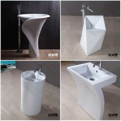Solid Surface Resina lavabo de pedestal Cuenca