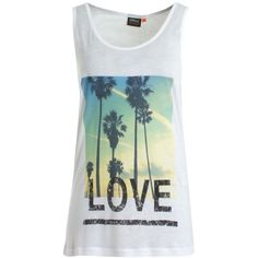 Beach Tank Top 15090458 ❤ liked on Polyvore featuring tops, shirts, tank tops, tanks, blusas, beach tops, beach tank tops, shirt top, beach tanks and beach shirts