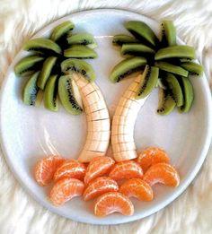 Fruit appetizers for kids treats 55 ideas Cute Food, Good Food, Yummy Food, Food Crafts, Diy Food, Food Art For Kids, Children Food, Healthy Snacks, Healthy Recipes
