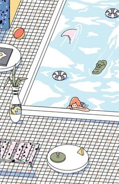 Personal Illustration in 2015 Beach Room & Towel Girl-Actually, I done with this drawing while I have been travel to the Koh Tachai (South of Thailand). In every moment while I travel it is like whenI walk in the gallery. See and learn how wonderful … Drawing Wallpaper, Kawaii Wallpaper, Pastel Wallpaper, Girl Wallpaper, Cartoon Wallpaper, Easy Sketches, Aesthetic Iphone Wallpaper, Aesthetic Wallpapers, Cute Illustration