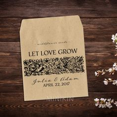 Wedding Seed Packets Vintage Wildflowers – W-A191