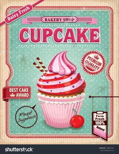 imagens para quadros vintage cupcake - Pesquisa Google