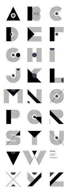 Graphic design (alphabet) · moshun by jeroen krielaars art deco typography, art deco font, font art, typography Typography Letters, Graphic Design Typography, Lettering Design, Hand Lettering, Typography Served, Font Art, Creative Typography, Typography Poster, Art Deco Typography