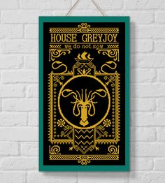 BoGo Pattern cross stitch House Greyjoy Games of Thrones Instant Download, Cross-Stitch PDF, Needlework, Embroidery, Digital #106 by LolitaMade on Etsy