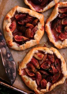 rustic fruit tarts.  margaret + joy