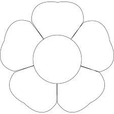 preschool flower template image search results stencils
