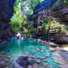 Matutinao River Canyon, Cebu, Philippines by Rod Ruales Les Philippines, Philippines Travel, Places To Travel, Places To See, Travel Destinations, Dream Vacations, Vacation Spots, Italy Vacation, Wonderful Places