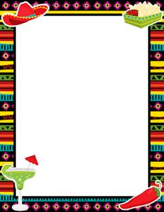 Free fiesta border templates including printable border paper and clip art versions. File formats include GIF, JPG, PDF, and PNG. Mexican Menu, Mexican Fiesta Party, Mexican Cooking, Printable Border, Templates Printable Free, Printables, Page Borders, Borders Free, Borders For Paper