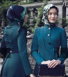Tugba collection back detail lovely coat hijab ❤ hijab style