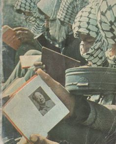 Palestinian fighters learn about Maoism.