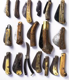 There was a billhook in every gardener's pocket. Though they came in many shapes and materials, most of them had a protruding blade that could be pulled out easily, even with wet or calloused fingers.