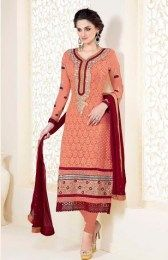 Orange COlor Designer Salwar Suit