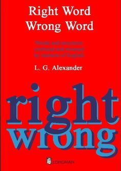 E-Books for Learners & Teachers of English: Right Word Wrong Word