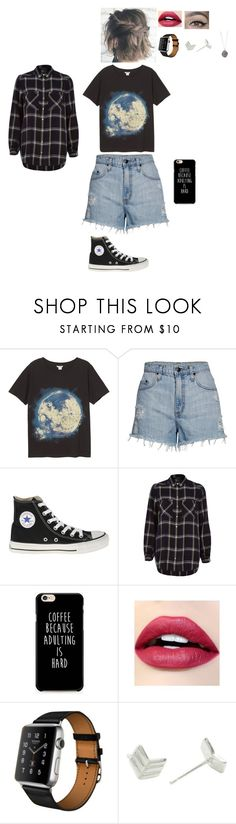 """Anything goes!! #2"" by leacousty55 ❤ liked on Polyvore featuring Monki, Nobody Denim, Converse, River Island, ColourPop, Hermès and Essentia By Love Lily Rose"