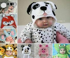 Crochet Baby Animal Hats Patterns Video