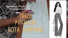Aprende con SANDRA PADILLA : Trazo de Pantalón Flare, o Bota Campana