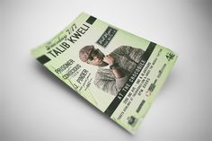 Talib Kweli July 17, 2012 Concert Flyer Design