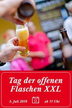 Am 5. Juli 2019 verwandelt sich der Biergarten der Stiegl-Brauwelt in Salzburg in das Zentrum der Biervielfalt! Zu Gast sind 13 Brauereien, die euch Einblicke in ihre Braukünste bieten und fachkundige Erklärungen liefern. #prost #placetobe Event | Veranstaltung | Save the date | Place to be | Brauerei | Bierverkostung | Wochenende | Tag der offenen Flaschen | Salzburg | Bier | Trinken | Street Food | Essen | Better be there | Stiegl Salzburg, Events, Drink Beer, Beer Garden, Brewery, Centre, Flasks, Food
