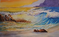 How to paint translucent waves in watercolors. 2 hour live recorded class replay video available for $14. Watch as often as you like. Click on the image to take you to the booking page. lesson, art, paint, watercolor, watercolour, ocean, water, waves,