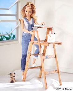 Getting a leg up on some interior updates! Thanks for all of your help Miss Honey. Barbie Diorama, Barbie Doll House, Barbie Life, Barbie And Ken, Mattel Barbie, Vintage Barbie, Barbie Painting, Barbie Tumblr, Original Barbie Doll