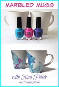 5 minute Craft – Marbled Mugs This is a very quick and easy craft project that you can make with dollar store supplies. This truly is a 5 minute Craft Dollar Store Hacks, Dollar Store Crafts, Dollar Stores, How To Make Diy Projects, Easy Craft Projects, Craft Tutorials, Craft Ideas, Decor Ideas, Mug Crafts