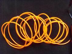 orange curled wire