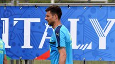 """Thiago Motta of  Italy  looks on during the training session at """"Bernard Gasset"""" Training Center on June 10, 2016 in Montpellier, France."""