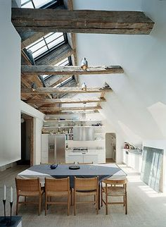 kitchen beam should feel like this, can attach a door way light too