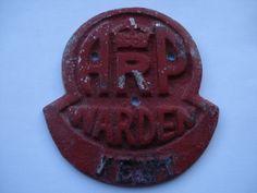 Cww2 Vintage A.r.p.warden Kent Car Badge? Or Plaque • £42.00 - PicClick UK