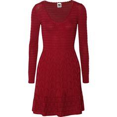 M Missoni Crochet-knit wool-blend dress