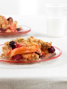 Fill up on fruit and fiber with the Apple Berry Buckle. YUM!