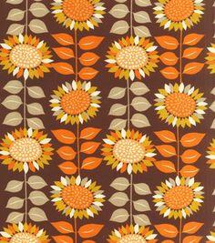 Autumn Inspirations Fabric- Harvest Sunflowers