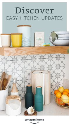 Refresh your space! Easy updates for the kitchen. Shop Amazon Home.