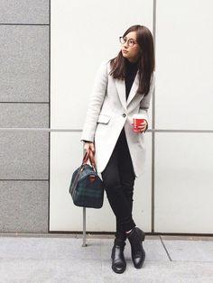 瀬戸晴加さんのチェスターコート「NINE チェスターコート 」を使ったコーディネート