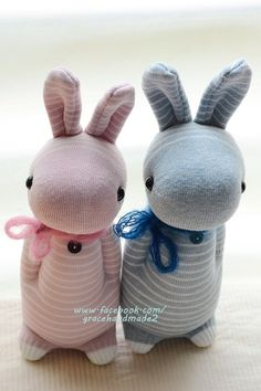Grace--#318+#319 sock rabbits (Domy Rabbit)