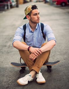 Huf Hat, Naked & Famous Shirt, Kasil Workshop Pants, Nike Shoes