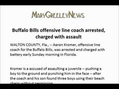 "Buffalo Bills offensive line coach ""arrested"" charged with assault"