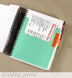Tabbed Recipes Pocket by Lizzie Jones for Papertrey Ink (March 2015)