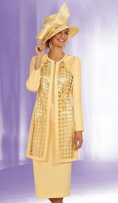 pentecostal women's clothing   Ben Marc Womens Church Suit with Long Jacket 4550 image