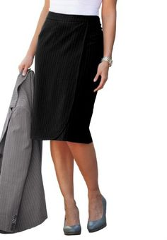 dde8772a81984 Jessica London Plus Size Suit Skirt with Wrap Front  34.99 Ladies Of London