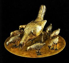 6th century animal figurines * Gilded silver * Monza, cathedral museum (Theodolinde's treasure)